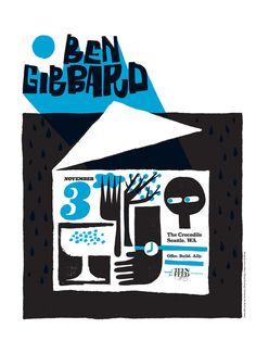 Ben Gibbard poster by Jesse LeDoux