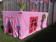 Foto: Super Idee das werde ich für meine Enkelkinder nähen und dann einfach wie eine Tischdecke über den Tisch legen. Veröffentlicht von Sofiechen auf Spaaz.de
