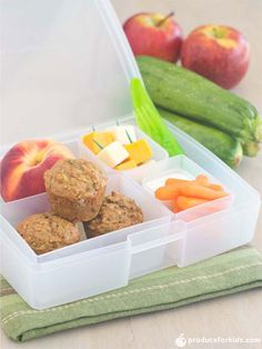Kids will love opening their lunchboxes and seeing these yummy mini muffins, packed with healthy ingredients like apples, zucchini and Greek yogurt! Make a batch for easy lunchboxes all week!