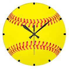 Custom #Softball Wall Clock