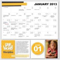 Love the idea of including the monthly calendar with note in Project Life