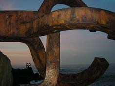 Chillida sculpture, Donostia Best Cities In Spain, Some Beautiful Pictures, Basque Country, Free Spirit, San, Sculpture, City, Social Networks, Countries