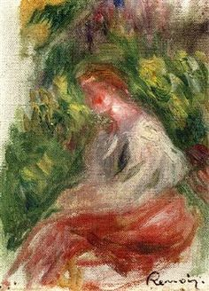 Young Woman, Seated - Pierre-Auguste Renoir