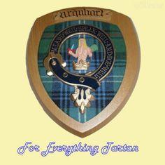 Clan Urquhart Tartan Woodcarver Wooden Wall Plaque Urquhart Crest 7 x 8