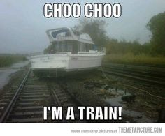 Go home boat, you're drunk…