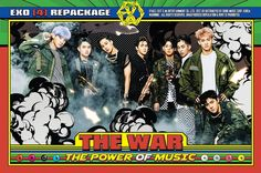 EXO has maintained their number 1 spot on the album charts for a second week.EXO′s repackaged studio album The War: The Power Of Music remained at the number 1 spot on the album charts of HanteoAdditionally Kyungsoo, Exo Chanyeol, Kpop Exo, Exo K, Exo Stickers, Exo Album, Exo Official, The Power Of Music, Korean K Pop