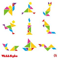 Interactive Education Graphics : Tangrams for teachers from Walls360