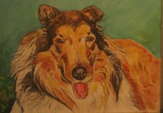 This is a portrait painting of my wonderful collie Bella. I painted this from a photo I had taken. This was done in watercolors.