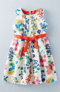 Mini Boden 'Vintage' Sleeveless Dress (Toddler Girls, Little Girls