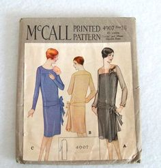 Vintage 1920s Dress Pattern Flapper Party by RebeccasVintageSalon, $54.00