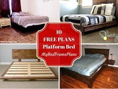 If you want a new bed in your house, then you should take a look over all these platform bed designs and ideas. You have many, many free platform bed plans to choose from, so make sure you pay attention to all alternatives before taking a decision. High Platform Bed, Rustic Platform Bed, Platform Bed Plans, Platform Bed Designs, Queen Size Platform Bed, Platform Bed Frame, Bed Frame With Storage, Diy Bed Frame, Bed Frame Plans