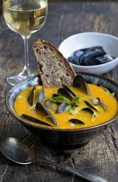 Mussels in Yellow Tomato broth - it's a good thing I bought some yellow tomato plants today!!!!