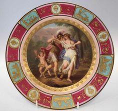 Prato em porcelana de Vienna de meados do sec.19th, assinado, 25cm de diametro, 17,130 EGP / 5,885 REAIS / 1,995 EUROS / 2,260 USD https://www.facebook.com/SoulCariocaAntiques
