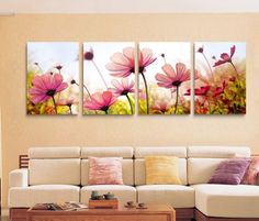 ASIA MODERN ABSTRACT WALL ART PAINTING ON CANVAS NEW Style ! (NO FRAME)with paintings of four pcs Flower like flowers forming Platin Art http://www.amazon.com/dp/B00EZFP07O/ref=cm_sw_r_pi_dp_dOjLvb05DZYMK