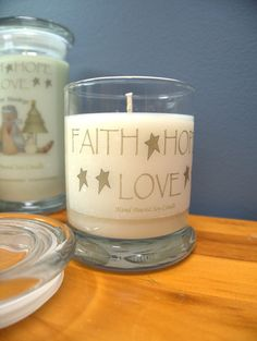 Faith, Hope & Love Soy Candle Hand Made