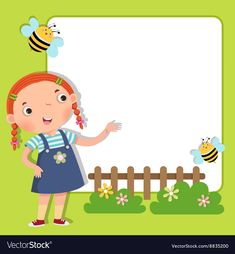 Illustration about Vector illustration of background with cute girl. Illustration of frame, birthday, album - 69692167 Emotions Preschool, School Border, Mickey Mouse Toys, School Frame, Background Powerpoint, Background Design Vector, Kids Vector, School Gifts, Classroom Themes