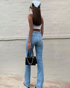 Retro Outfits, Mode Outfits, Cute Casual Outfits, Vintage Outfits, Fashion Outfits, Fashion Tips, Modest Fashion, Hijab Fashion, Cheap Outfits