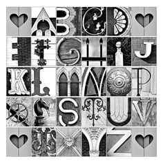 """Alphabe Photo Letter Art - Spell out """"New Door"""" with photos from around SF/ new door (maybe one """"o"""" is a bike tire"""")"""