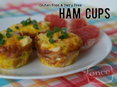 Ham Cups - Gluten Free Dairy Free on-the-go breakfast perfect for summer - freezer meals, oamc