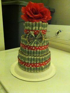 Money cake for my daughter's tenth birthday.