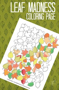 Fall Leaves Coloring Page for Grown ups. Excellent for spending nice quality time with your family.
