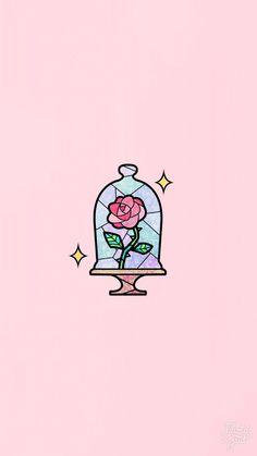 Wallpaper rose rosa - Nachtliebe - Beauty & the Beast - Wallpaper Wallpaper Rose, Cute Wallpaper Backgrounds, Wallpaper Iphone Cute, Cute Cartoon Wallpapers, Aesthetic Iphone Wallpaper, Phone Wallpapers, Drawing Wallpaper, Iphone Wallpaper Beauty And The Beast, Cute Summer Wallpapers