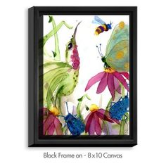 DiaNocheDesigns 'Calliope Coneflower' by Dawn Derman Painting Print on Wrapped Framed Canvas