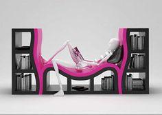 comfortable bookcase