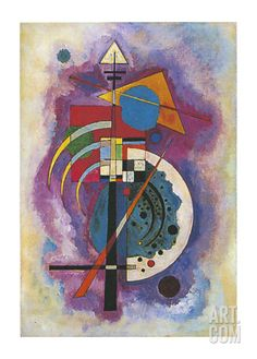 Tribute to Grohmann by Wassily Kandinsky. I used to own the jigsaw puzzle of this painting that I'd bought at the Guggenheim Museum New York and have special memories!