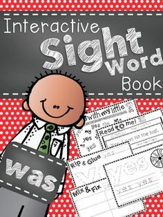 Students will enjoy this interactive sight word morning work books. Each morning students will complete activities in their interactive sight word. Teaching Sight Words, Sight Word Practice, Sight Word Games, Sight Word Activities, Literacy Activities, Interactive Activities, Sight Word Wall, Writing Practice, Interactive Notebooks