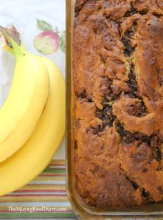 Chocolate Marbled Banana Bread {Gluten Free, Dairy Free}