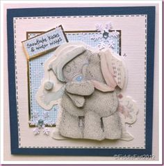Tatty teddy winter wishes Christmas card Tatty Teddy, Teddy Bear, Handmade Christmas, Christmas Crafts, Your Cards, Birthday Cards, Projects To Try, Card Making, My Favorite Things