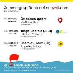 neuwal Sommergespräche 2012 - Die erste Staffel. http://neuwal.com/sommer