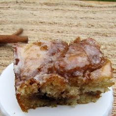Cinnamon Roll Cake--Just made this tonight…absolutely delicious! What I like most is that all the ingredients are basic kitchen essentials, so no need to run to the grocery store!! Easy and Tasty!