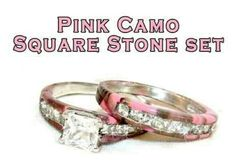 Pink Camo Wedding Ring Set I D Be The Dork To Get It