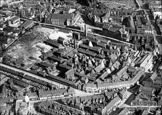 1927 aerial photo centred on Spode's pottery factory, Stoke: