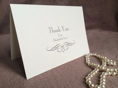 10 x  Personalised 'Pearl' Thank You Cards & by ContemporaryCardCo, £5.10