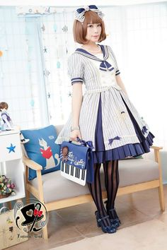 Reminder: Rabbit Teeth [-☁☸♆-The Sailor's Wind-☁☸♆-] OP's Preorder will END on July 31 >>> http://www.my-lolita-dress.com/rabbit-teeth-the-sailor-s-wind-cotton-short-sleeves-op-dress