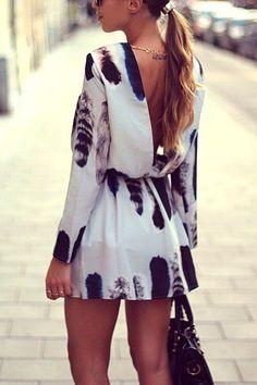 Black & white dress.