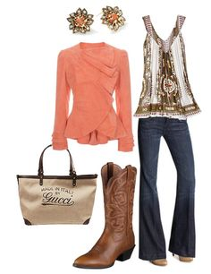 Get rid of the cowboy boots and it's my perfect outfit!
