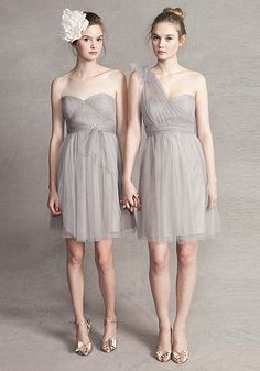 Jenny Yoo 'CONVERTIBLE' Wren Dress in Mink Grey. http://www.jennyyoo.com/soft-tulle-01.html