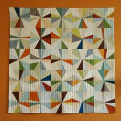 Spotted Stones: the big orange wall quilt