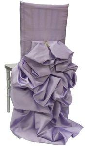 Wildflower Linen - CHAIR COVERS Iridescent Taffeta Lavender Diana Chair Sleeves