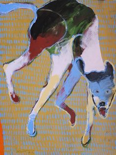 A lot of the dog paintings that catch my eye are by Rick Bartlow