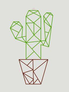 'Linien Kaktus' T-Shirt von itsJOUY - Flower and Plant Designs - line art cactus The Effective Pictures We Offer You Abo - Cactus Drawing, Cactus Art, Cactus Decor, Geometric Drawing, Geometric Art, Cactus House Plants, Indoor Cactus, Kaktus Illustration, 3d Pen