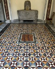 """Decimus Claudius - Rome SPQR on Instagram: """"A mosaic inlay floor, sarcophagus, columns and fountain (I am not sure if all or just some are ancient since there was no information…"""" Ancient Beauty, Columns, Rome, Floors, Fountain, Mosaic, Contemporary, Instagram, Home Decor"""
