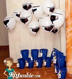 Balloon with party favor idea
