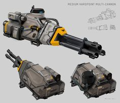 some more work for elite:dangerous, spaceship weaponry … had lots of fun doing…
