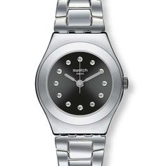 Swatch Irony Be Surprised Black Dial Stainless Steel Ladies Watch YSS279G *** Find out more about the great product at the image link.