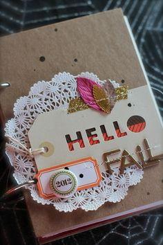#papercraft #scrapbook #minialbum SC.  Fall Mini.  Adrien Nealvis.